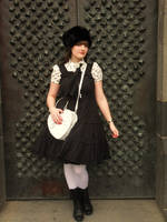 Black and White Classic Lolita by rufflesandsteam