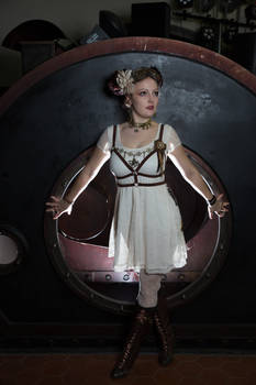 [STOCK] Steampunk Girl with Body Harness
