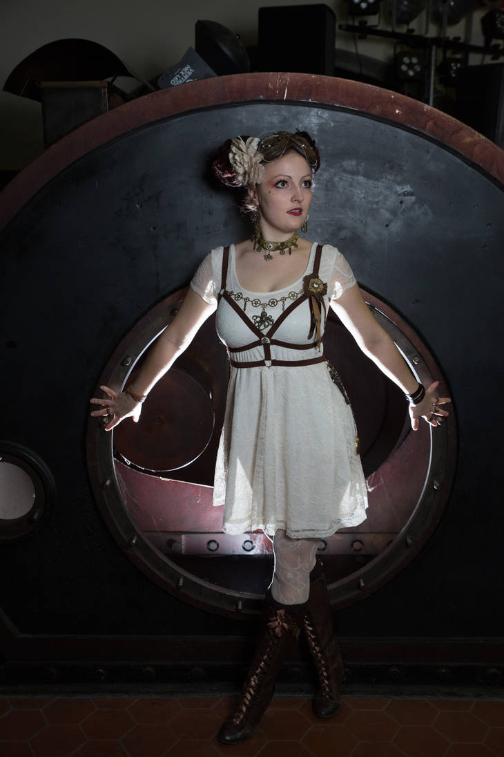 [STOCK] Steampunk Girl with Body Harness by rufflesandsteam