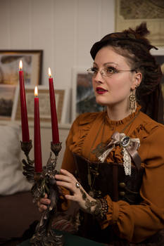 [STOCK] Steampunk Girl with chandelier