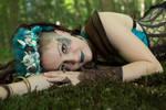 [STOCK] Steampunk Mermaid lying on moss