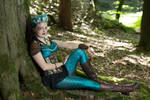 [STOCK] Steampunk mermaid sitting under a tree