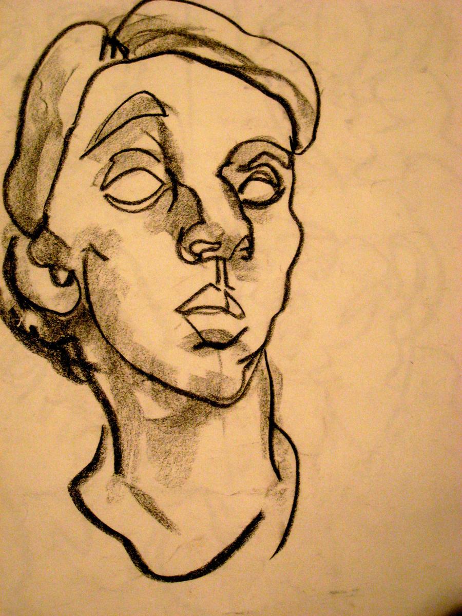 Blind Contour Line Drawing Self Portrait : Self portrait blind contour by extraordinary please on
