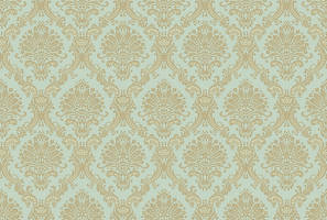 Teal Gold Damask Seamless by digitalresourcedepot
