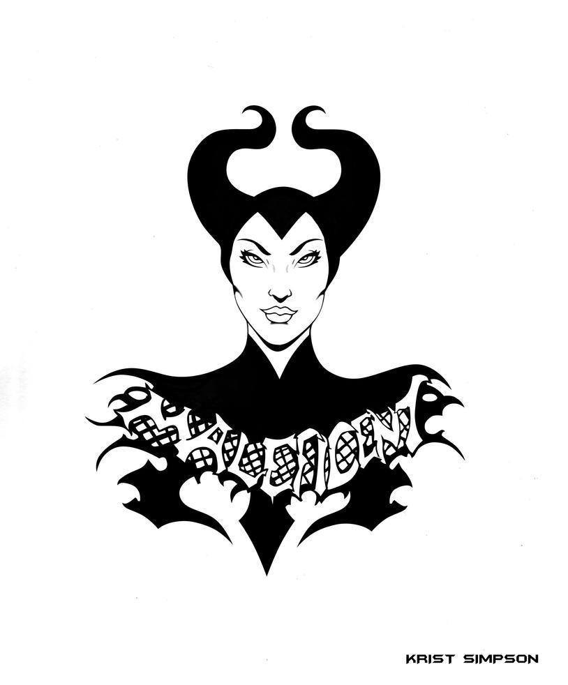 maleficent tattoo by kristsimpson on deviantart. Black Bedroom Furniture Sets. Home Design Ideas