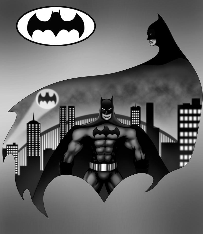 BATMAN Comission WIP by KristSimpson