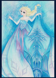 Frozen - Ice Queen Elsa by acbunny