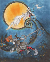 Kingdom Hearts Nightmare Before Christmas by acbunny