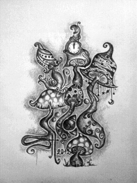 Mushroom Sketch By PurpleFishli On DeviantArt