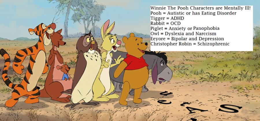 Winnie the pooh characters disorders winnie the pooh mental