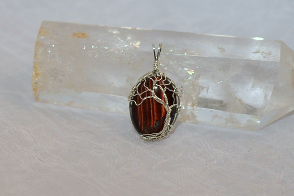 Red Tiger Eye Tree of Life by FreiaInguz