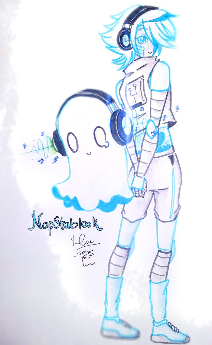 Undertale- Napstablook by karinchan97