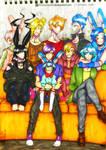 Fnaf: All Bonnie Generations- Family Photo! by karinchan97