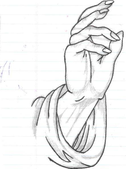 Pencil in gods hand