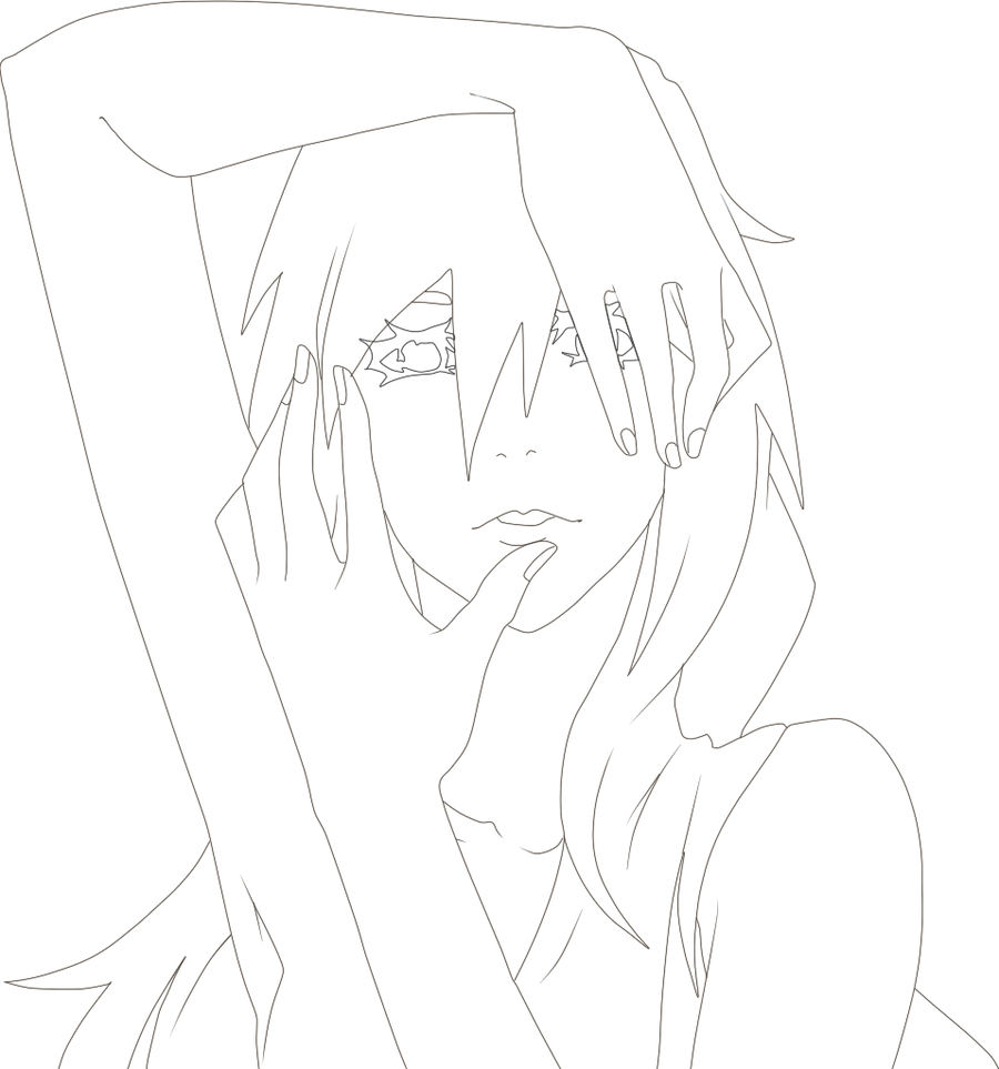 Anime Girl Lineart : Anime girl lineart by ai sennosuke on deviantart