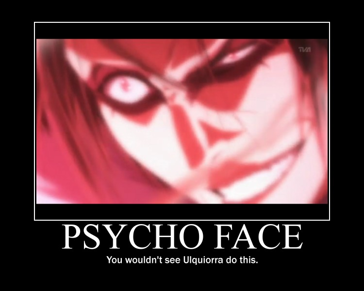 Psycho Anime Face Psycho Face by Hergman