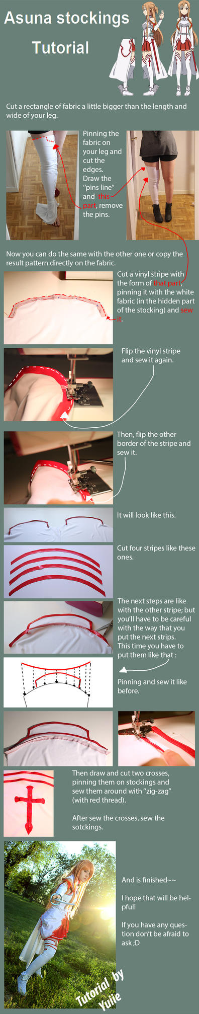 Tutorial - Asuna sotckings by Yuiie