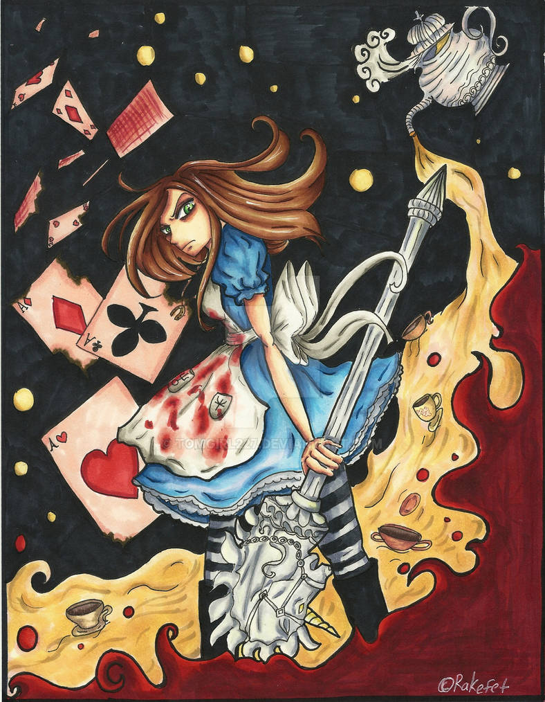 Alice Madness Returns - Copic Painting