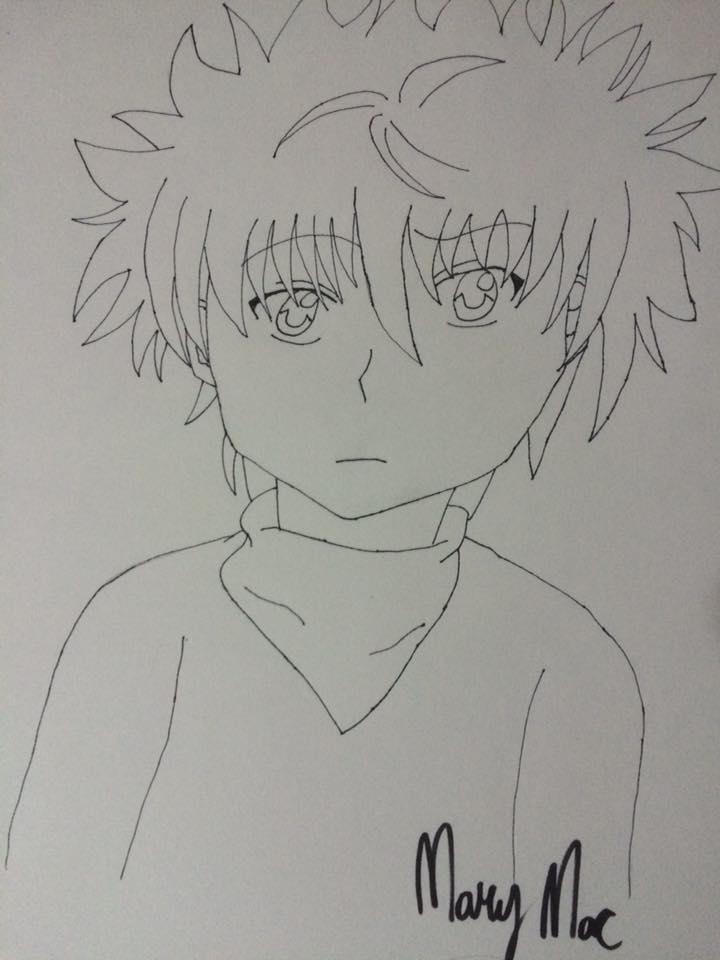 Killua (Line Art) by XSlightlySaneX