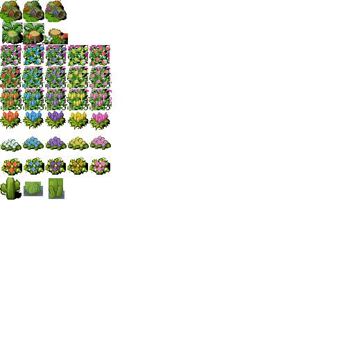 Proyecto: Tiles Estelares. Garden_tiles_3_by_l0velyblue-d3dbms2