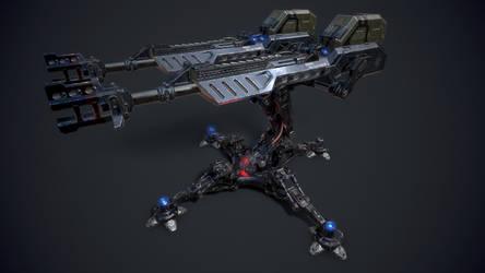 SCI-FI Turret Gun