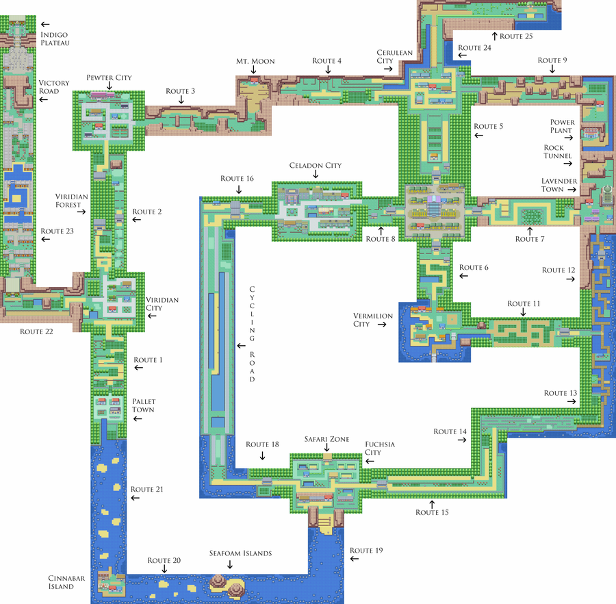 labeled map of kanto by rythos on deviantart