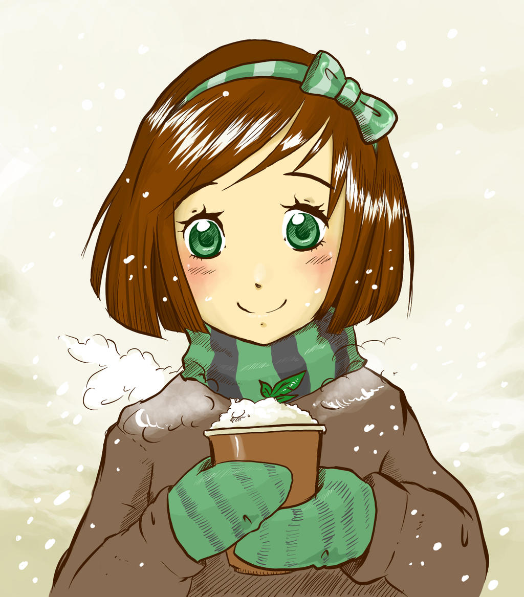 Mint hot chocolate by Paulina-AP