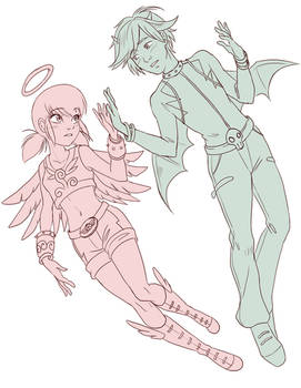 Miraculous/Angels Friends Crossover