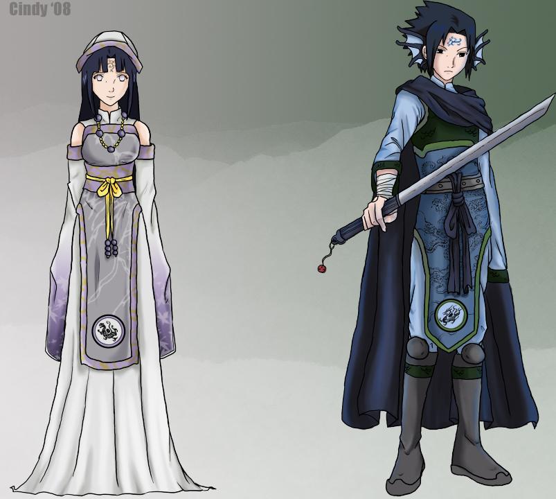 la princesse Hinata et le prince Sasuke