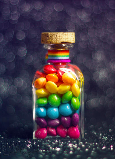 Bottle of Rainbow II by Sarah-BK