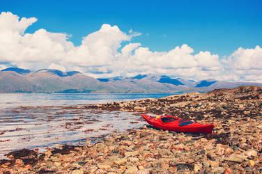 Canoe By The Lochside