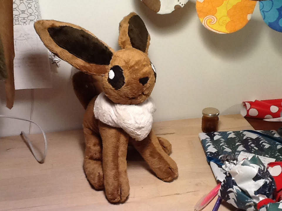 My Eevee Plush by Misenfisen04