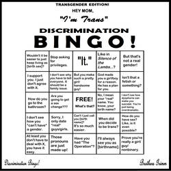 Discrimination Bingo! Trans* Edition by Grimm-Brothers