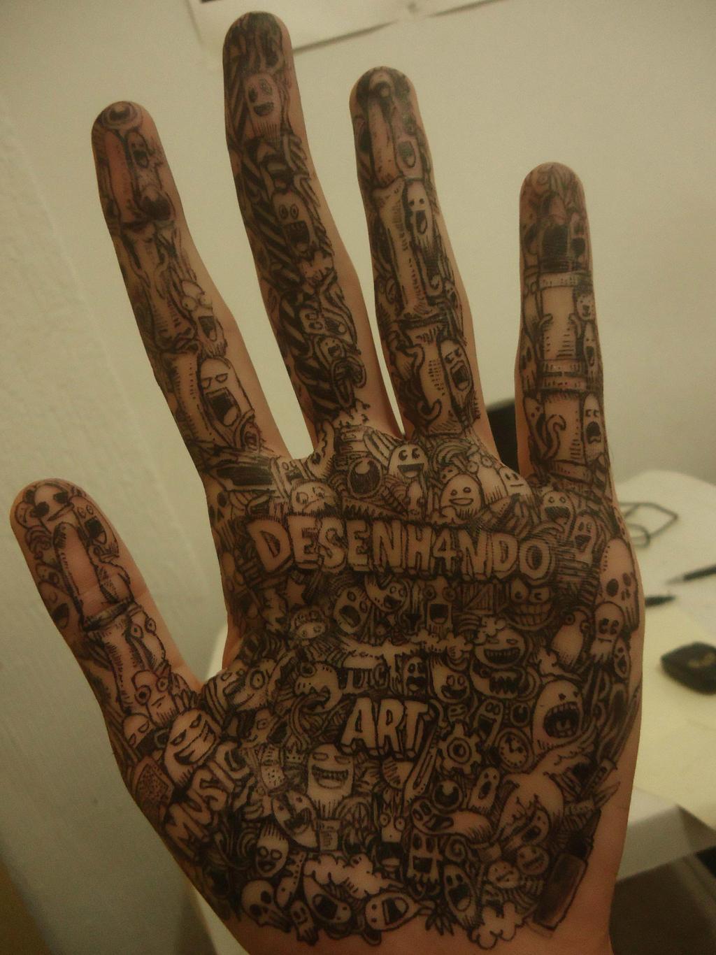 Hand doodle by naldojunio on deviantart for Tumblr hand doodles