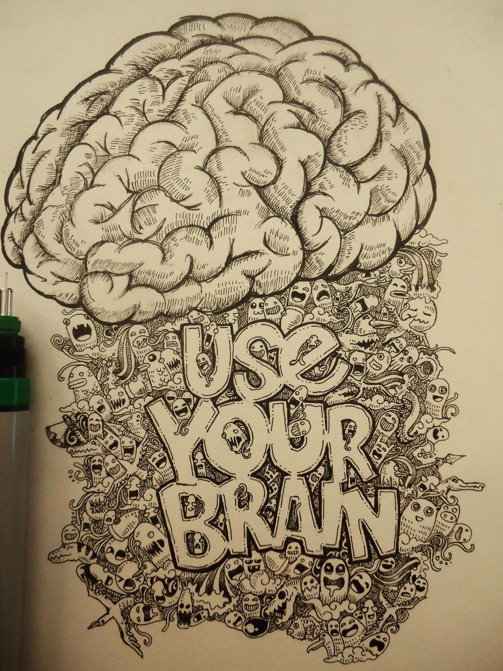 use your brain doodle by naldojunio on deviantart