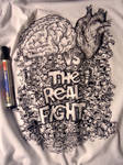 The Real Fight T-shirt Doodle