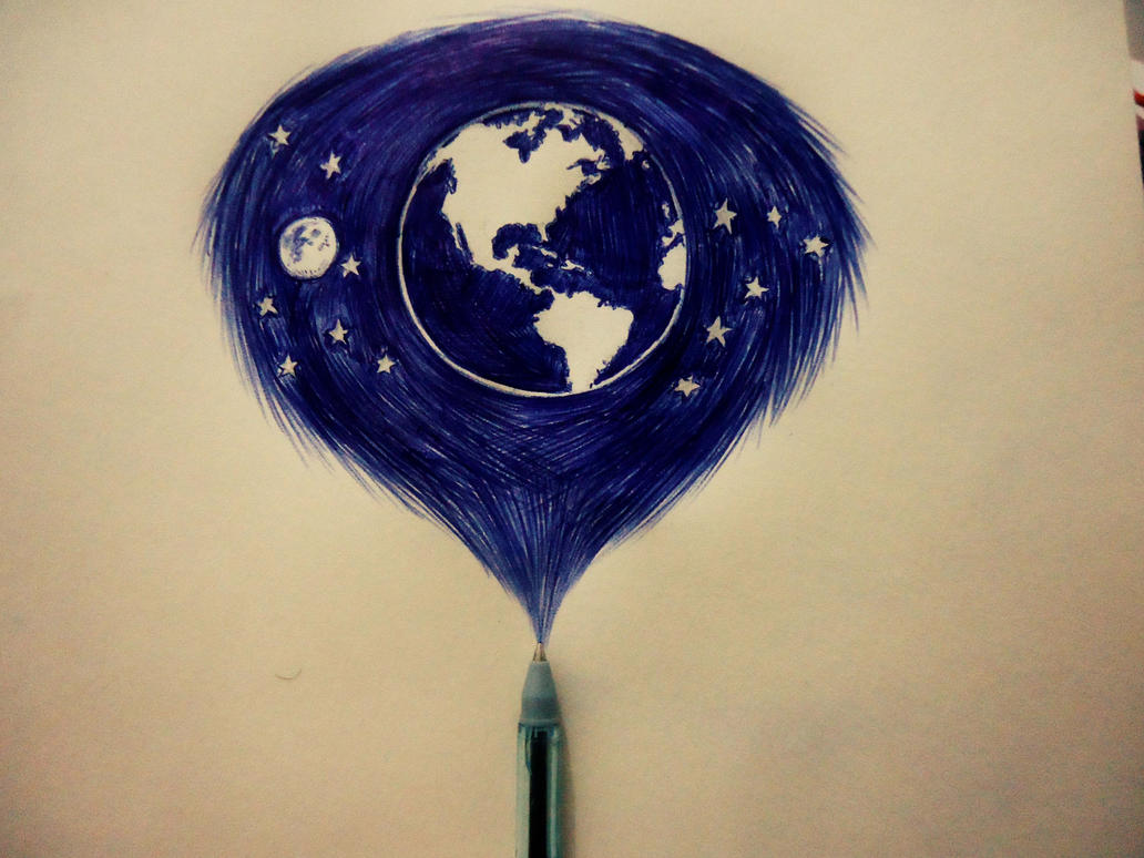 World in a ball-point pen by naldojunio