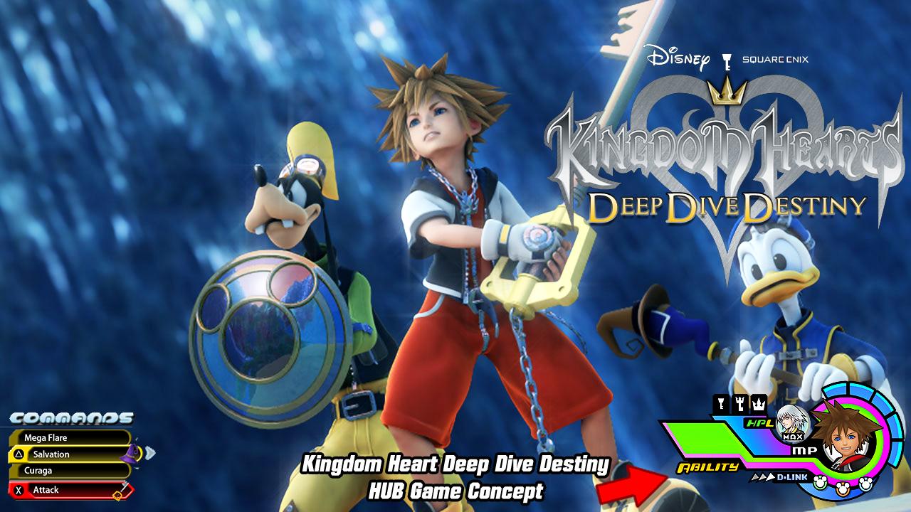Kingdom heart deep dive destiny hub game concept by - Kingdom hearts deep dive ...