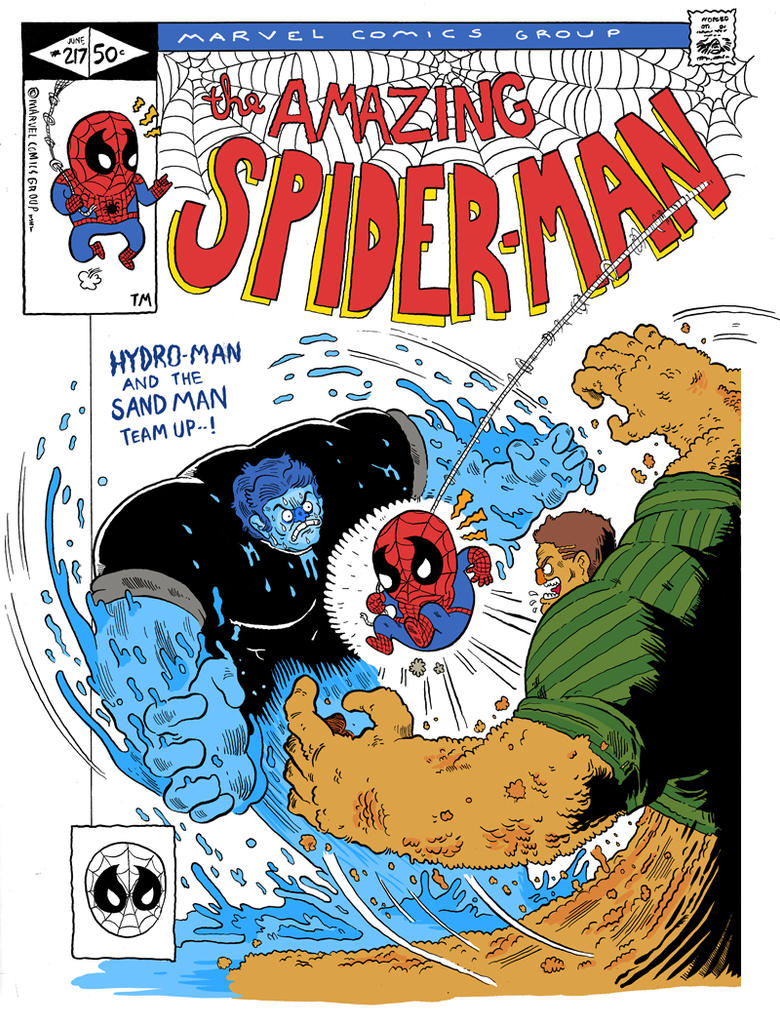 spider-man cover by mrdynamite