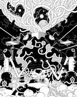 Cave Shrine BIGBW by mrdynamite