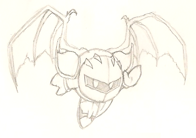 meta knight coloring pages - winged meta knight sketch by frostflurry92 on deviantart