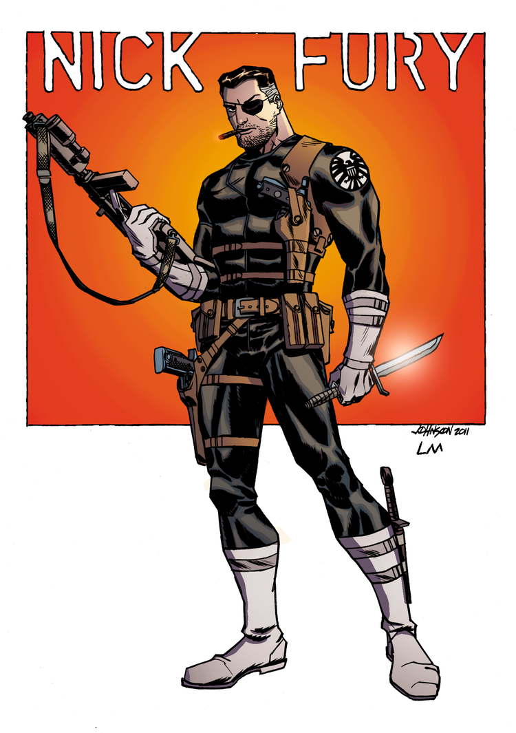 Nick Fury - Color Art by Leonardo Muglia by Leonardomuglia