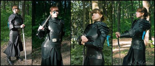 female dark leather armor by Shattan