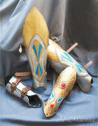 Warhammer Elven Leg And Arm Armor