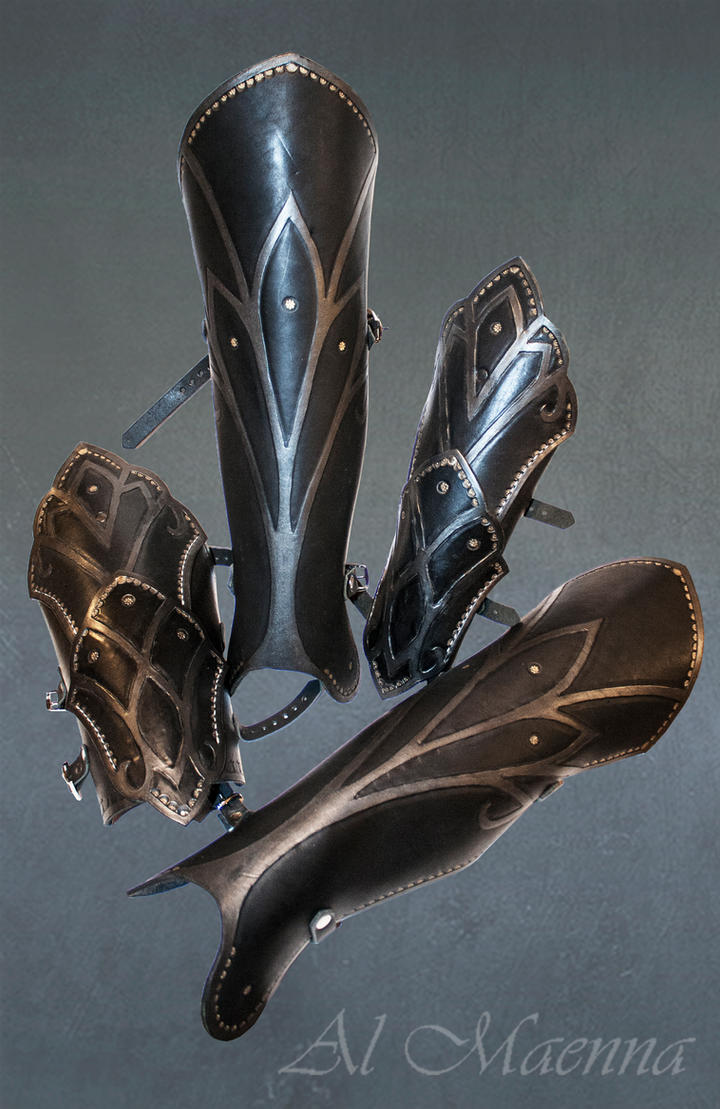 Elven arm and leg armor by Shattan