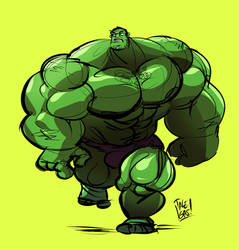 Buff-Ass Hulk by ItsTalegas