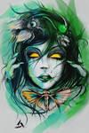 vergiftet Schmetterling