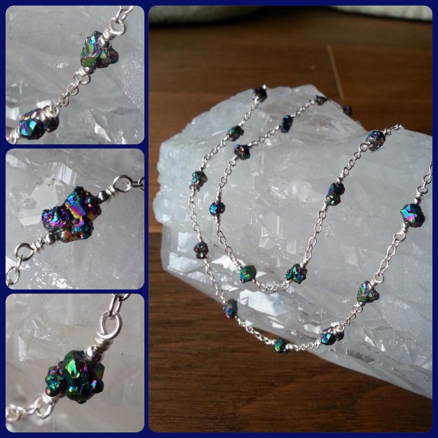 Titanium Quartz Necklace by JenstoneCreations
