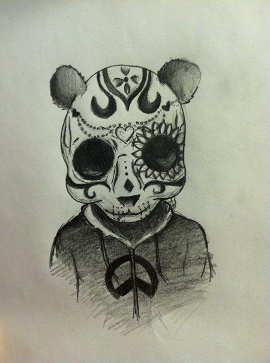 Animal sugar skull tattoo - photo#22