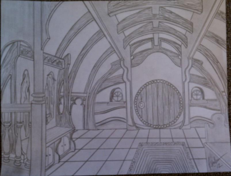 Inside A Hobbit Hole By Bakedbrain On Deviantart